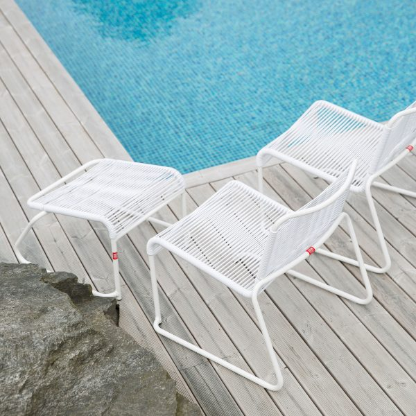 Lido Fußteil für Lounge-Sessel weiß