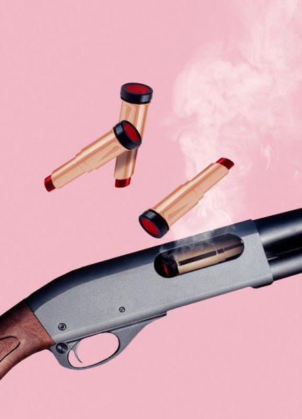 Lipstick Gun Leinwandbild