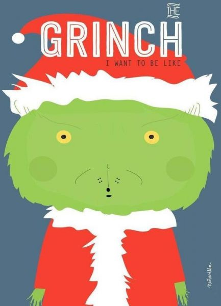 Little Grinch Leinwandbild