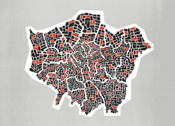 London Boroughs Leinwandbild