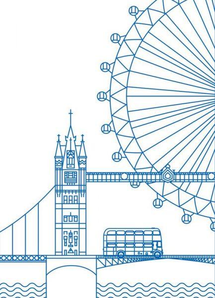 London Leinwandbild