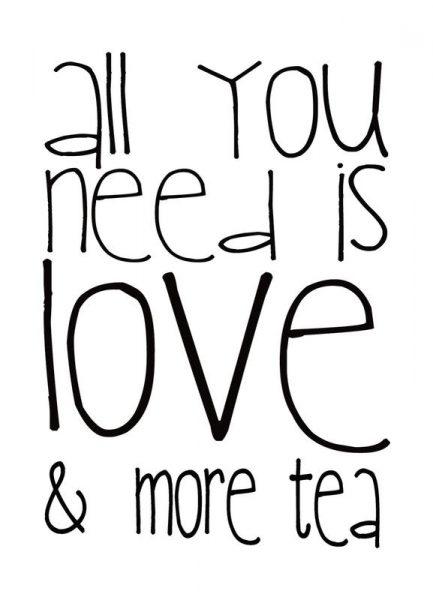 Love and Tea Leinwandbild