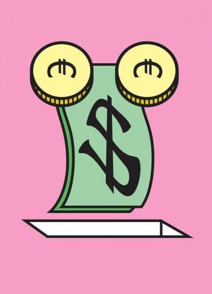 Makin Money Leinwandbild