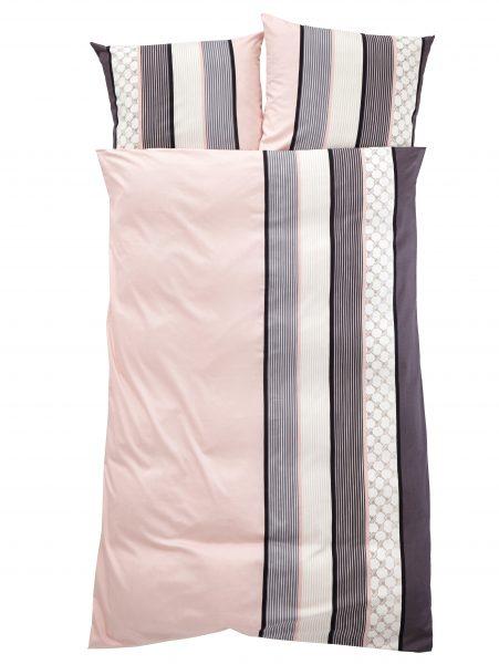 Mako Satin Bettwäsche 'Cornflower Stripes'000236279001