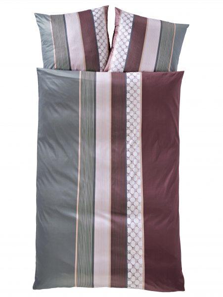 Mako Satin Bettwäsche 'Cornflower Stripes'000590737003