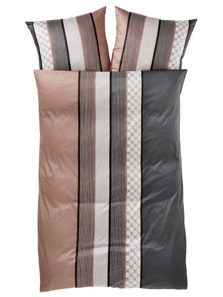 Mako Satin Bettwäsche 'Cornflower Stripes'000699395003