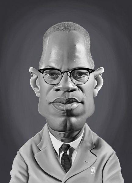 Malcolm X Leinwandbild