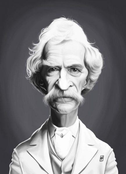 Mark Twain Leinwandbild