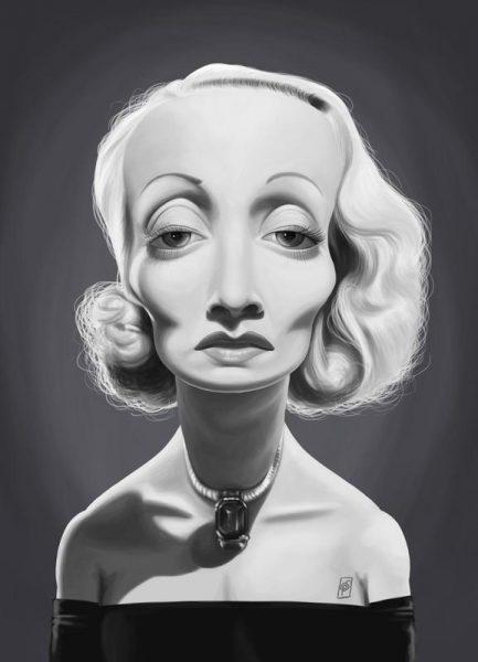 Marlene Dietrich Leinwandbild
