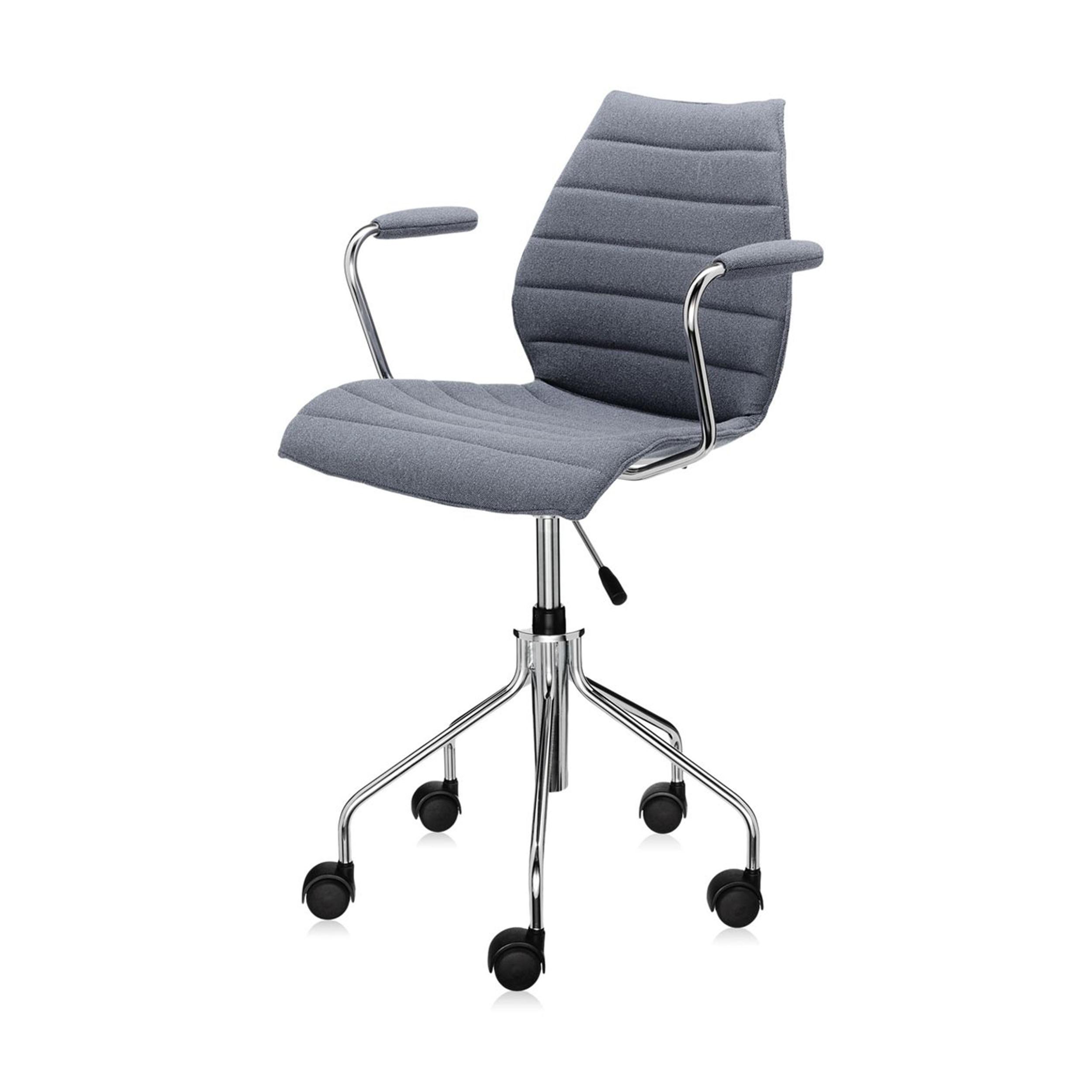 maui soft drehstuhl mit armlehnen und gasfeder grau online kaufen bei woonio. Black Bedroom Furniture Sets. Home Design Ideas