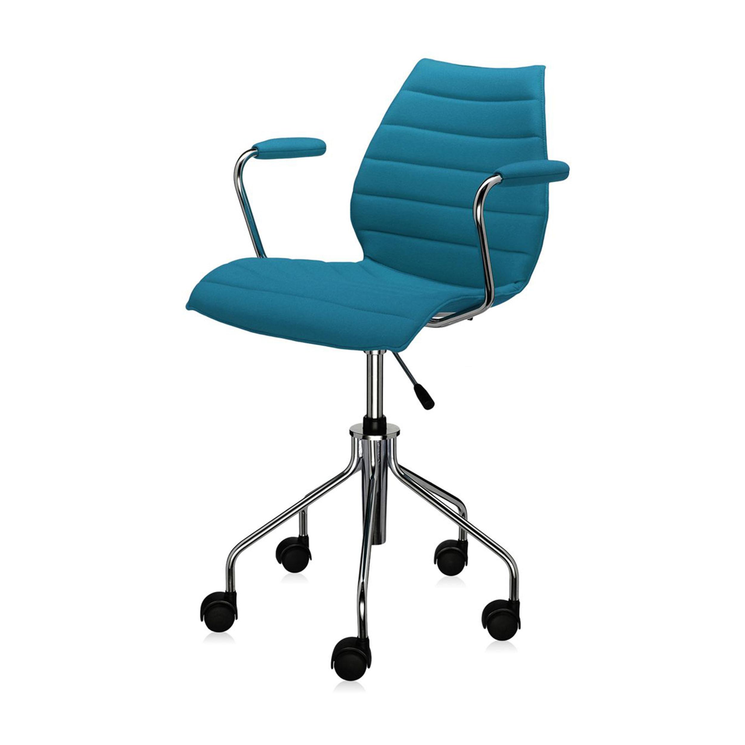 maui soft drehstuhl mit armlehnen und gasfeder petrol online kaufen bei woonio. Black Bedroom Furniture Sets. Home Design Ideas