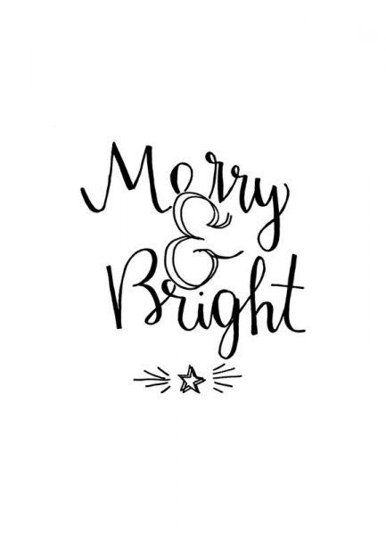 Merry & Bright Leinwandbild