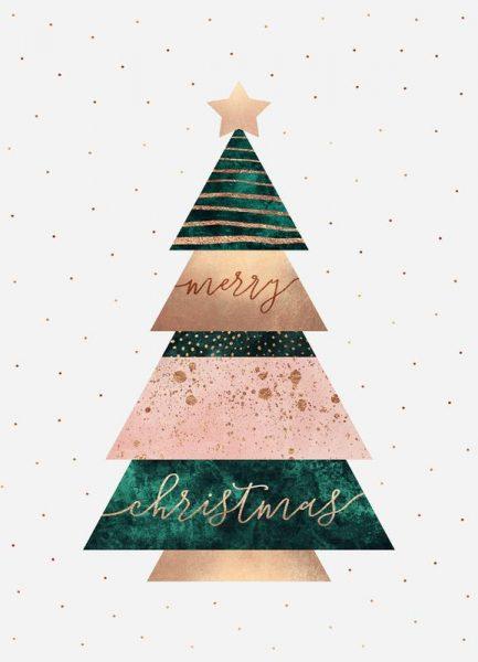 Merry Christmas Tree Leinwandbild