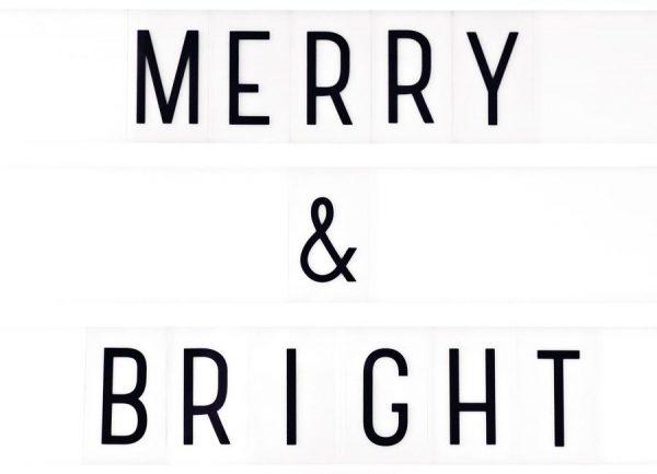 Merry X Mas Lightbox Leinwandbild