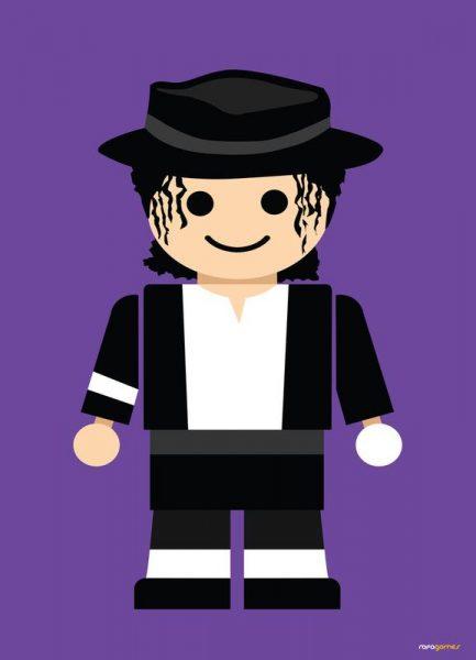 Michael Jackson Toy Leinwandbild