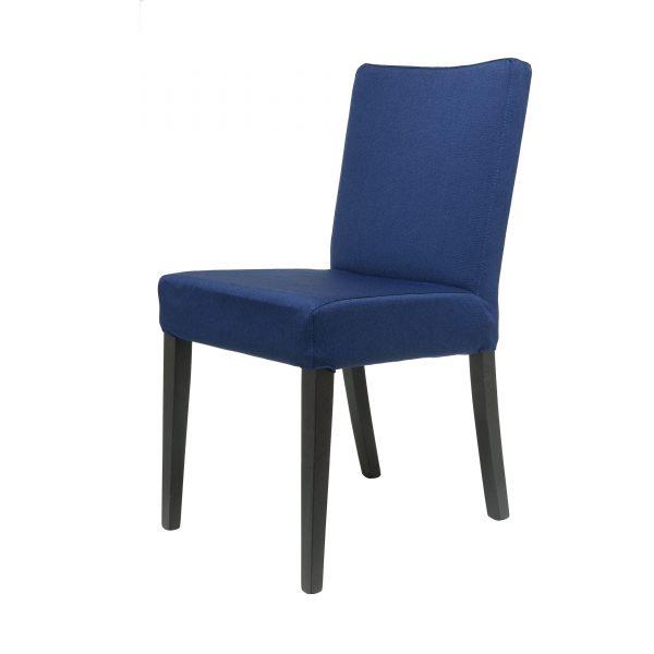 Mino Polsterstuhl in Buche wengefarben blau