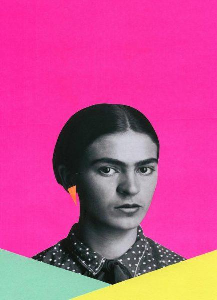 Modern Frida Leinwandbild