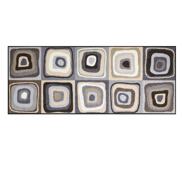 Modern Square Sauberlaufmatte 190x75 grau-beige