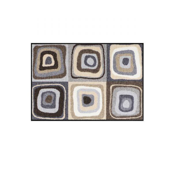 Modern Square Sauberlaufmatte 75x50 grau-beige