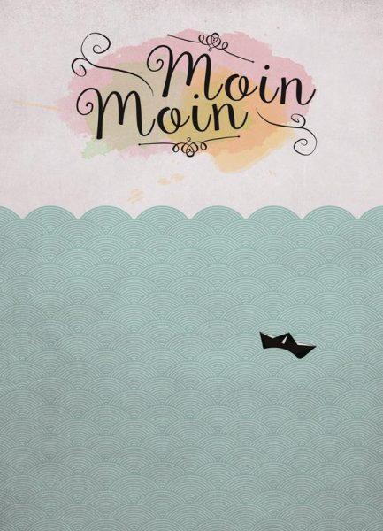 Moin Moin x Leinwandbild