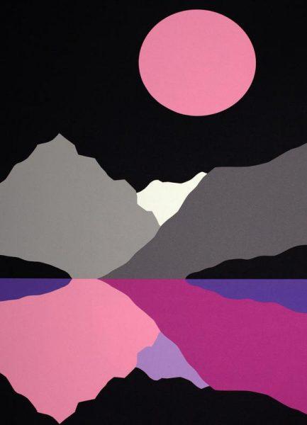 Moonlight On Lake Tenaya Leinwandbild