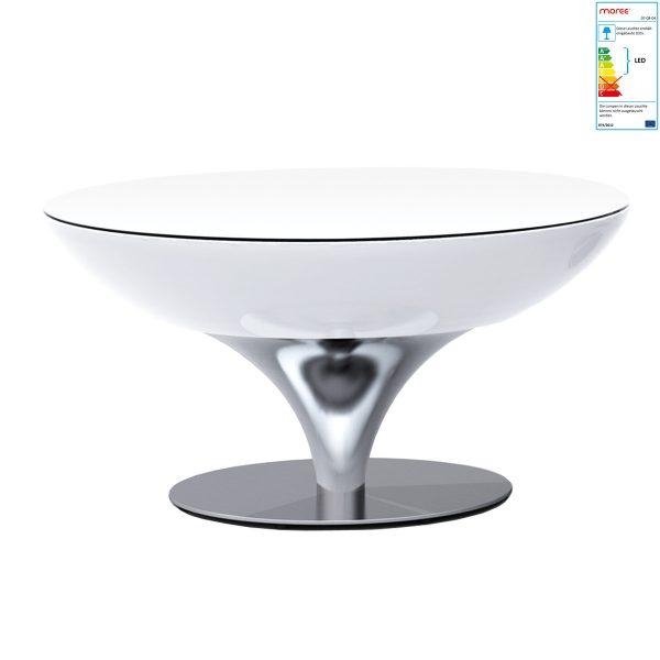 Moree - Lounge Tisch 45 LED ProTransluzent WeißT:84 H:45 B:84