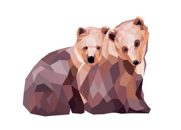 Mosa Bären Leinwandbild