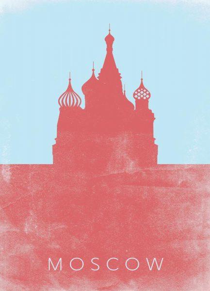 Moscow Leinwandbild
