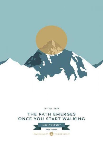 Mount Everest Gold Leinwandbild