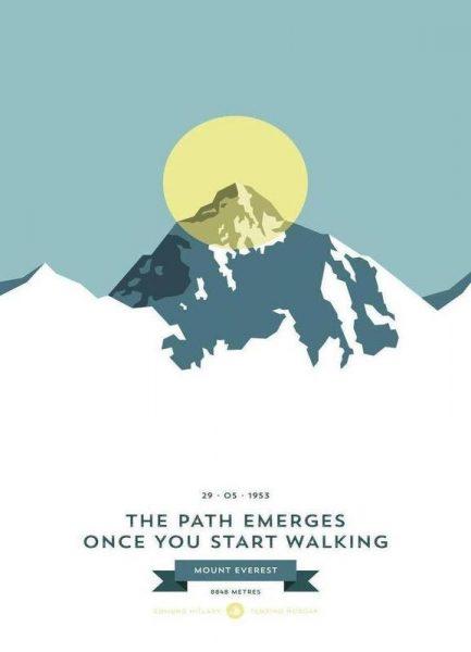 Mount Everest Yellow Leinwandbild
