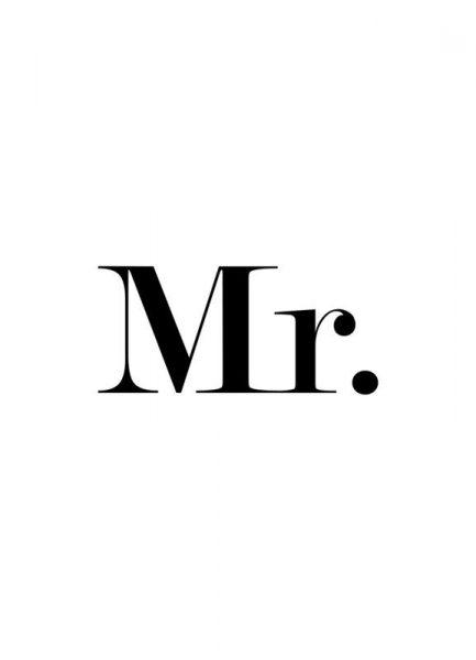 Mr. Leinwandbild
