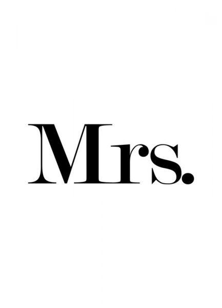 Mrs. Leinwandbild