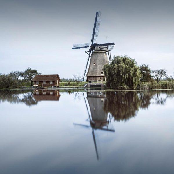 Netherlands Kinderdijk Leinwandbild
