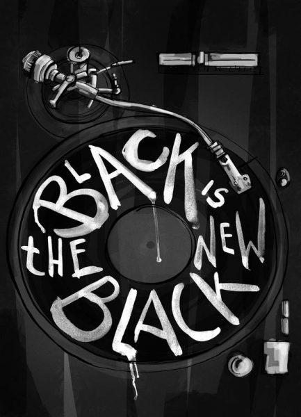 New Black Leinwandbild