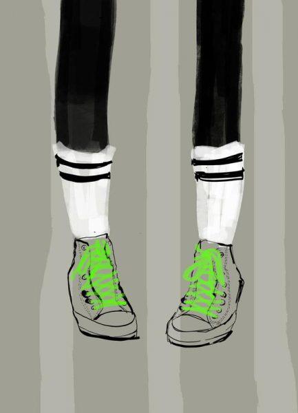 New Shoes Leinwandbild
