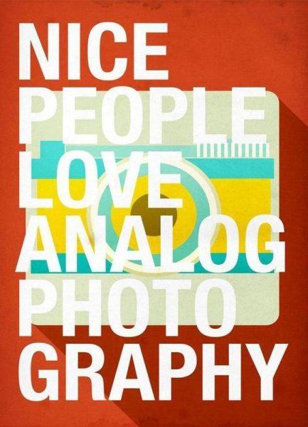 Nice people love analog photos Leinwandbild