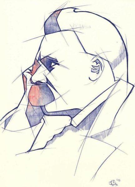 Nietzsche Leinwandbild