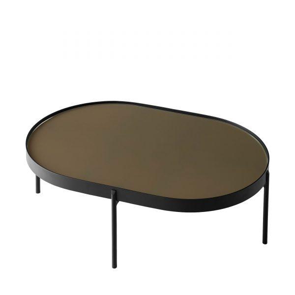 NoNo Table Beistelltisch L schwarz-braun