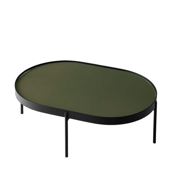 NoNo Table Beistelltisch L schwarz-dunkelgrün