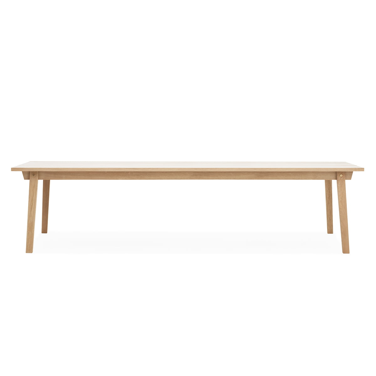 Normann copenhagen slice table wood 90 x 300 cm eiche eiche geseift t 90 h 74 b 300 online for Table 300 cm