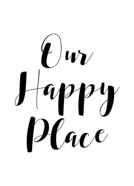 Our Happy Place Leinwandbild