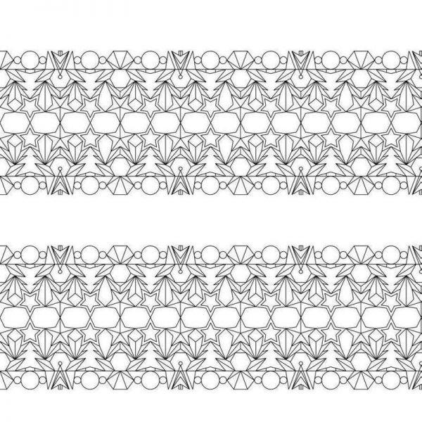 Outline Weiss Leinwandbild