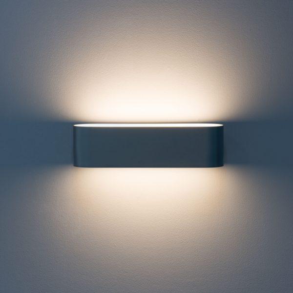 Oval Office 3 LED Wand- und Deckenleuchte grau metallic