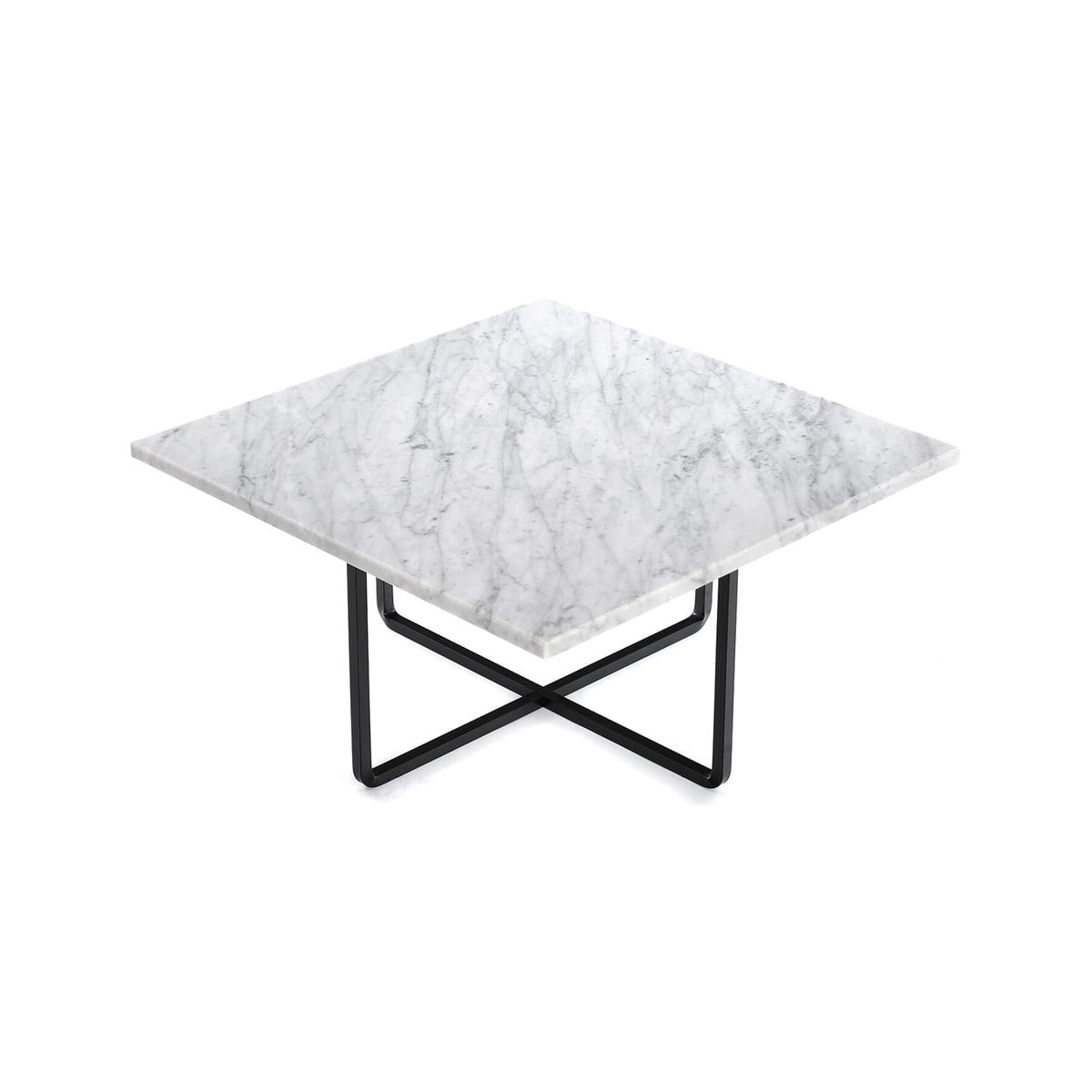 ox denmarq ninety couchtisch 60 x 60 cm schwarz marmor wei t 60 h 35 b 60 online kaufen. Black Bedroom Furniture Sets. Home Design Ideas