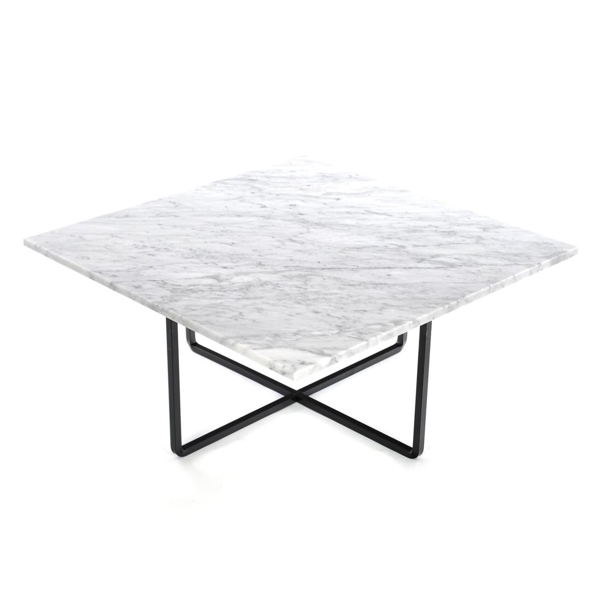 ox denmarq ninety couchtisch 80 x 80 cm schwarz marmor wei marmor t 80 h 35 b 80 online. Black Bedroom Furniture Sets. Home Design Ideas