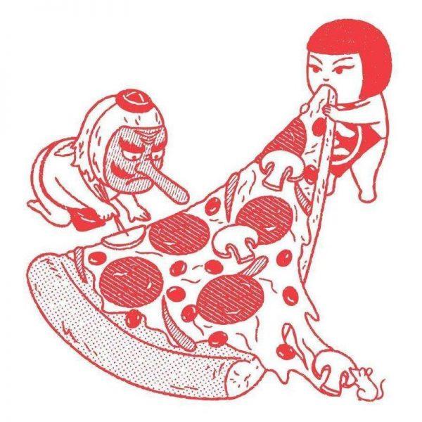 P is for Pizza 1 Leinwandbild
