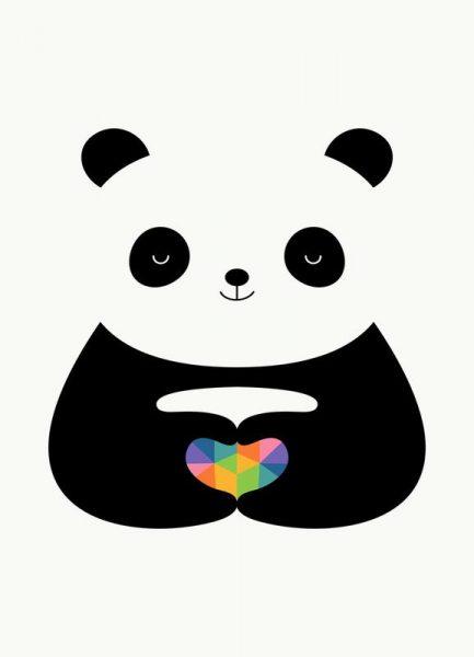 Panda Love Leinwandbild