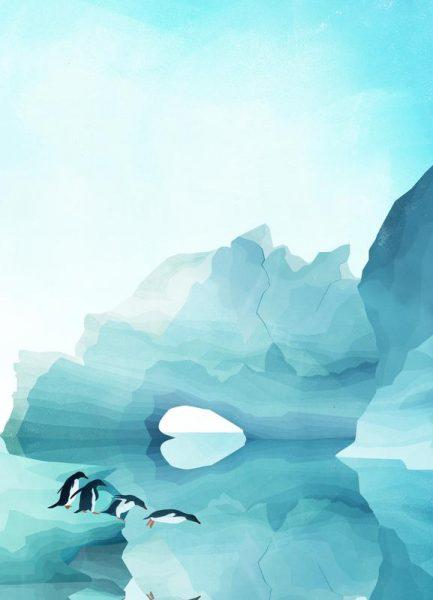 Penguins by Day Leinwandbild