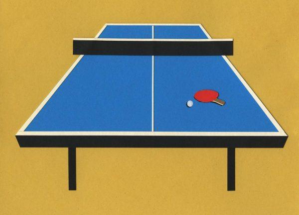 Ping Pong Table Leinwandbild