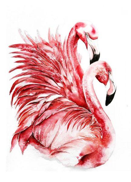 Pink Flamingo II Leinwandbild